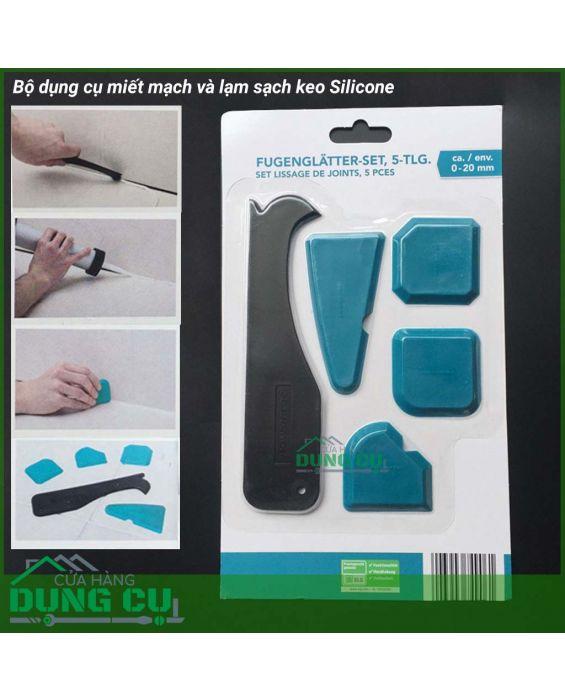 Bộ miếng nhựa miết mạch và cạo sạch silicone