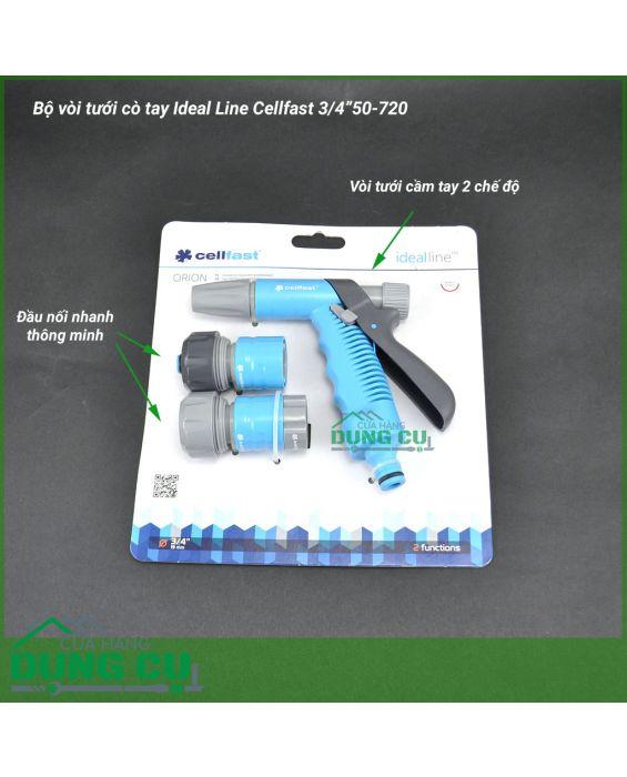 """Bộ vòi tưới cò tay Ideal Line Cellfast 3/4"""" 50-720"""