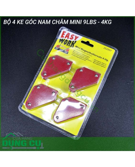 Bộ 4 ke góc nam châm mini 9LBS - 4Kg