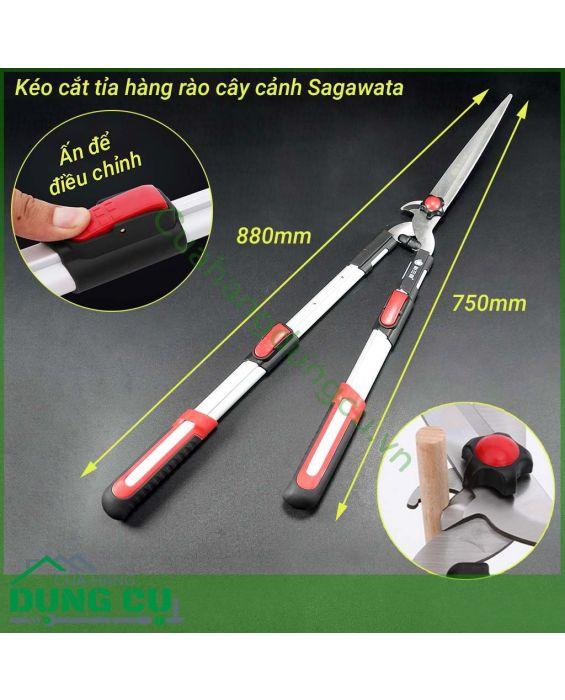 Kéo cắt hàng rào 2 chức năng có tăng Sagawata