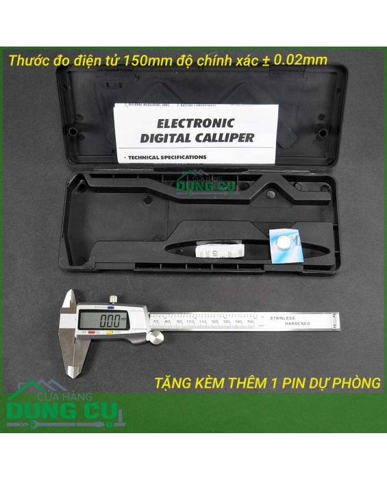 Thước kẹp điện tử thép không gỉ 150mm