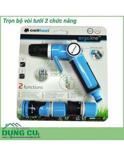 Trọn bộ vòi tưới cây rửa xe Cellfast Ergo 1/2″ 53-520