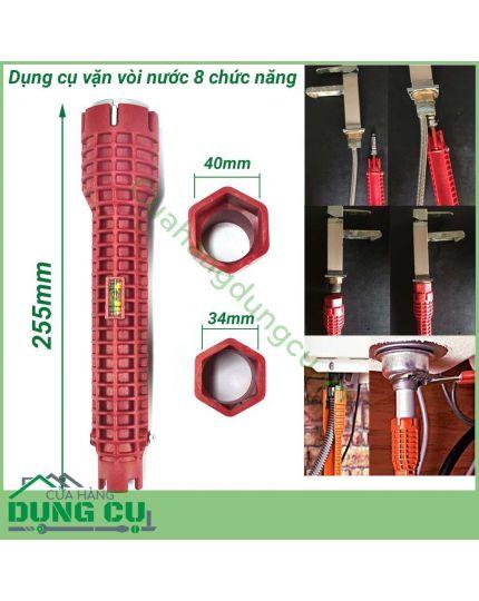 Dụng cụ vặn dây cấp nước 8 chức năng