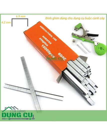 Hộp ghim bấm 604C 10000 kim cho dụng cụ buộc cành cây tự động