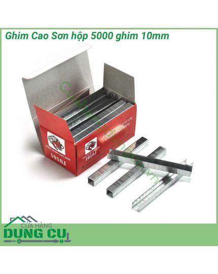 Ghim bấm gỗ Cao Sơn 10mm hộp 5000 ghim