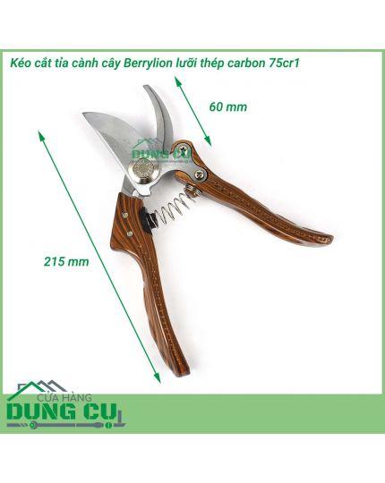 Kéo cắt tỉa cành cây Berrylion thép SK5