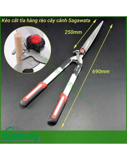Kéo cắt tỉa hàng rào 2 chức năng lưỡi thép SK5 NHẬT
