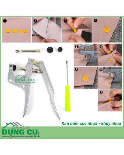 Kìm bấm khuy nhựa, cúc nhựa 3 cỡ T3/T5/T8