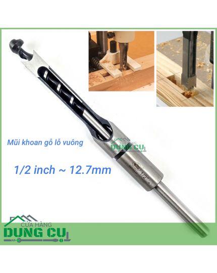 Mũi khoan gỗ đục mộng vuông 1/2inch(12.7mm)