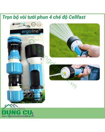Trọn bộ vòi tưới cây rửa xe đa năng Cellfast 3/4″ 53-515