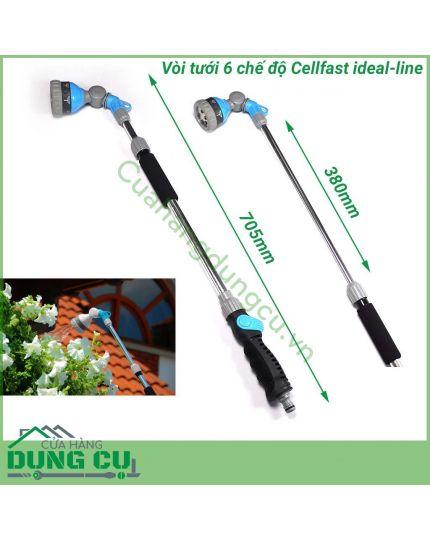 Vòi tưới cần nối dài 6 chế độ tưới Cellfast Idealline Plus