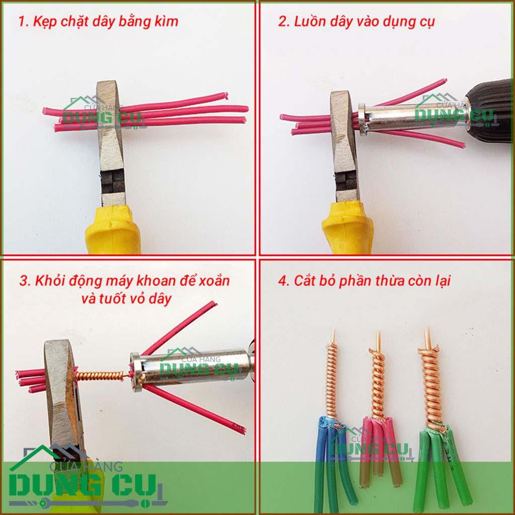 Hướng dẫn sử dụng đầu xoắn nối dây điện