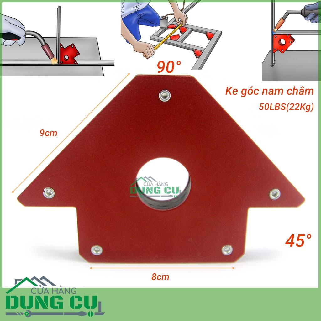 Bộ 2 ke góc nam châm 45°,90° cho thợ hàn lực hút 22Kg (50LBS)