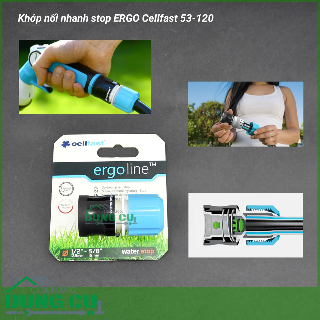 Khớp nối nhanh stop ERGO Cellfast 53-120