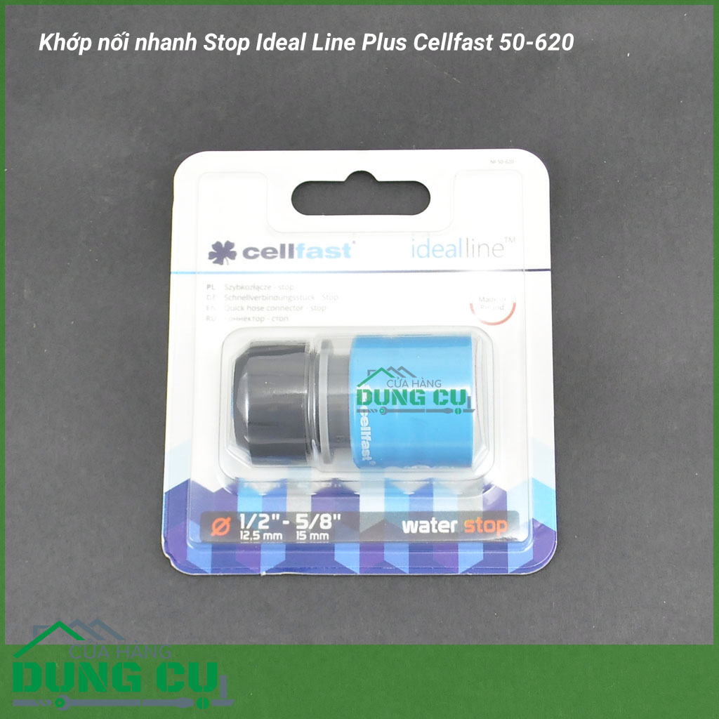 Khớp nối nhanh Stop Ideal Line Plus Cellfast 50-620