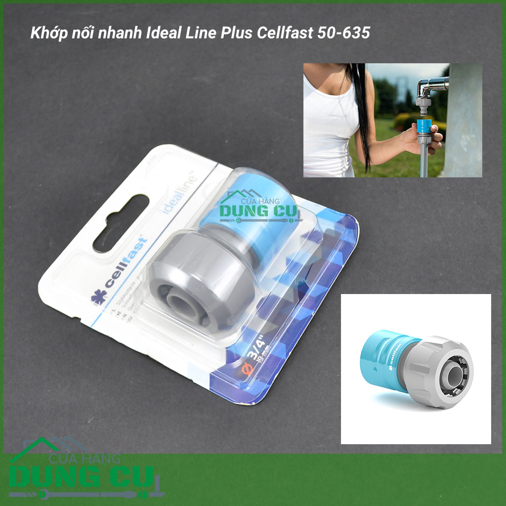 Khớp nối nhanh Ideal Line Plus Cellfast 50-635